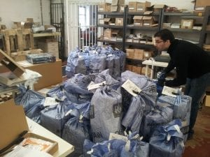 What a pile! This was less than half the bags that we sent yesterday...