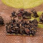 An Abyssal Dwarf army set on the table