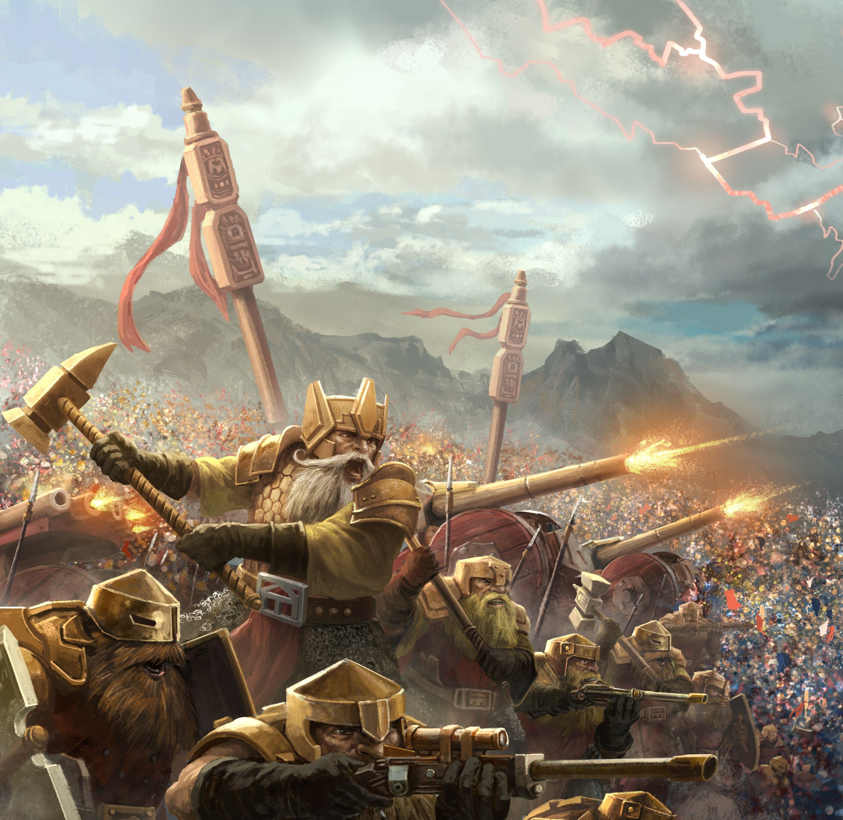 Dwarfs only do serious warfare!