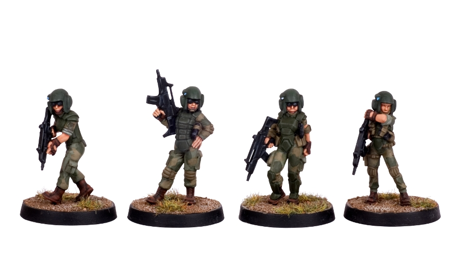 Hasslefree Lady Soldiers Painted