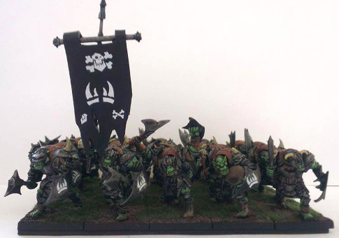 Pete's orcs have certainly chosen some strange markings for their banner...