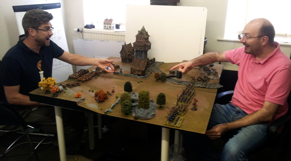 As an avid wargamer, Ronnie as no time for that set-up faff. Dice! Beards! Death! Pointing!