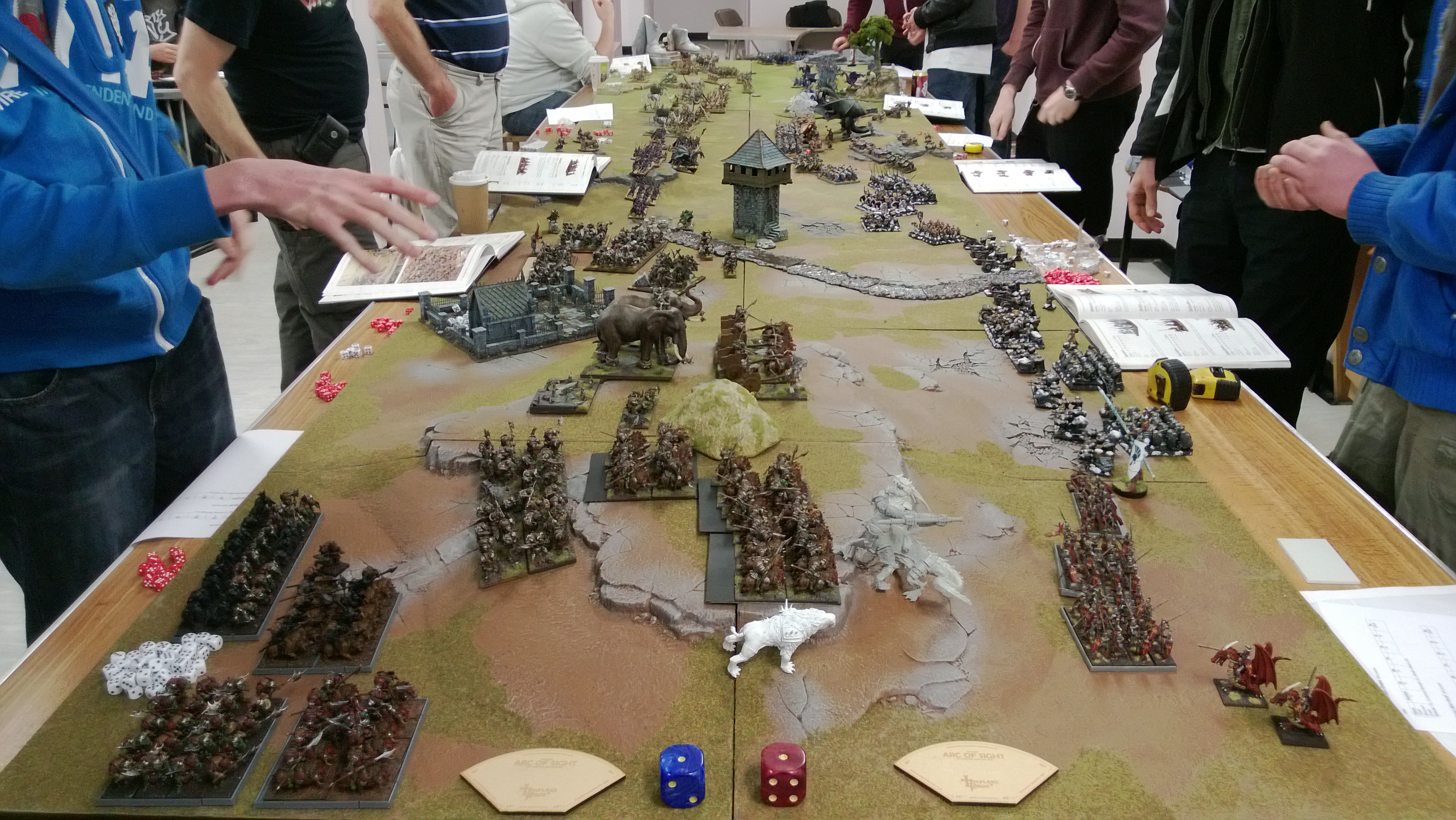 This epic battle took place at the Mantic Open Day earlier this year - and was finished in just over four hours!
