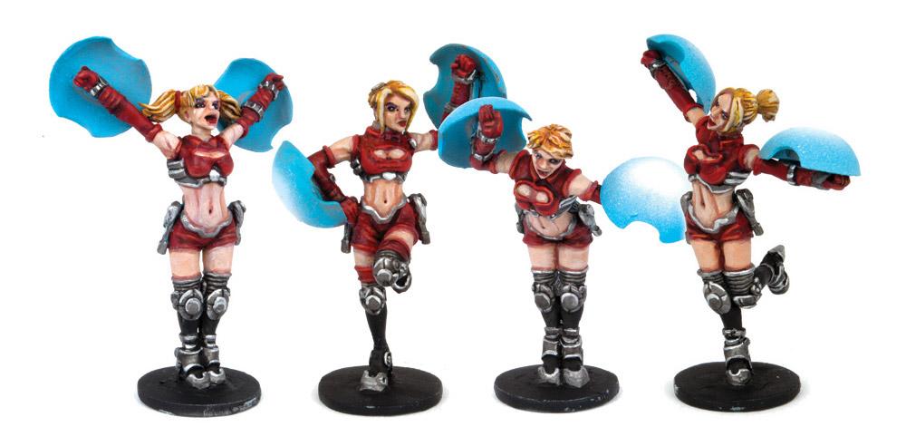 DreadBall Cheerleader Miniatures