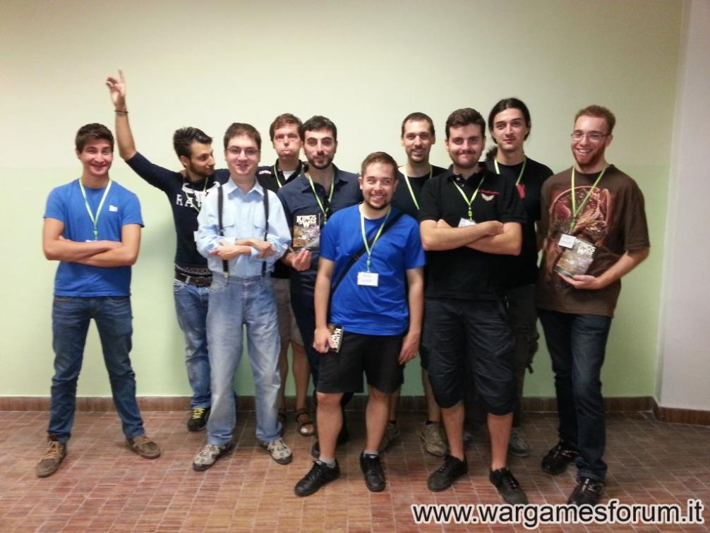 The participants in Mantic's first offical even in Italy!