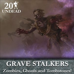 Undead Gravestalker Deal (20 figures & tombstones)