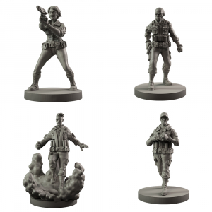 Hellboy: The Board Game Resin B.P.R.D. Agents Set 1