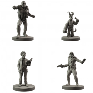 Hellboy: The Board Game Resin B.P.R.D. Agents Set 2