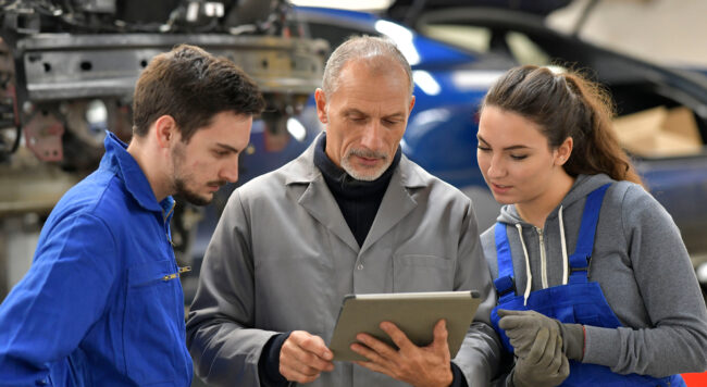 Automotive training for students