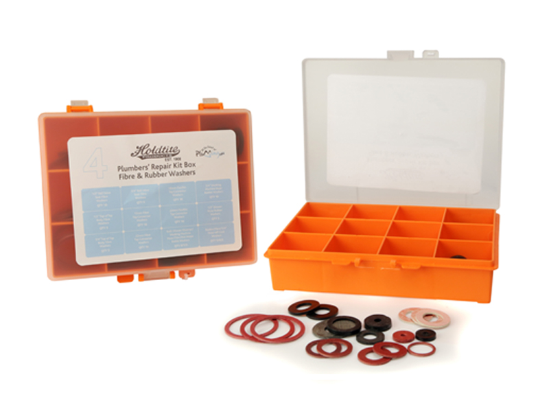 No.4 Fibre and Rubber Plumbers Repair Kit Box