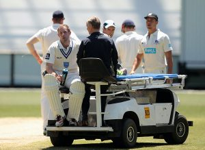 The Ben Rohrer incident in 2014 was the eye-opener that led Masuri to reassess the safety of its helmets© Getty Images and Cricket Australia