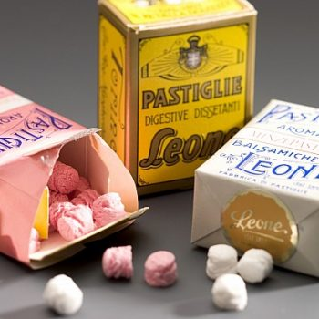 Original Lemon Flavoured Lozenges by Leone, Turin 30g