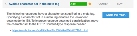 Avoid character set in meta tag