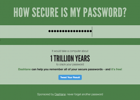How secure password