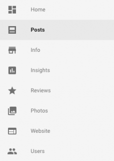 Google business menu