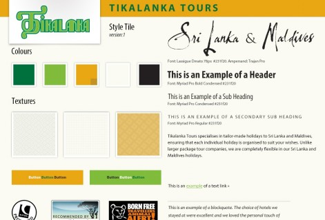 Tikalanka style tile part