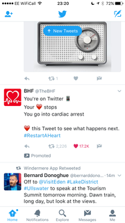 BHF tweet campaign