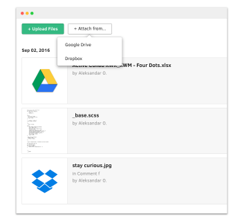 Active collab gdrive dropbox