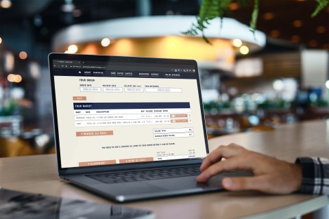 James clay website intergrates with merlin business software