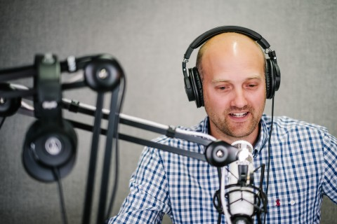 Andrew Armitage hosting the Clientside Podcast