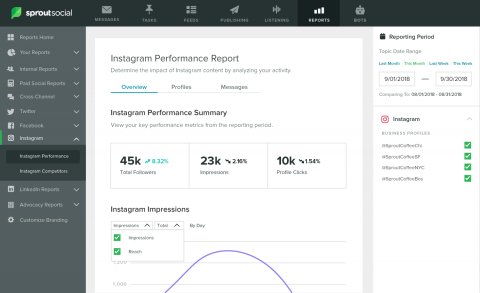 Reports Instagram Performance Report