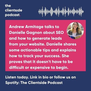 New podcast alert 🎤Andrew chats to @elevate_marketing about SEO and lead generation from your website.Link in bio or search The Clientside Podcast on your favourite podcast outlet.