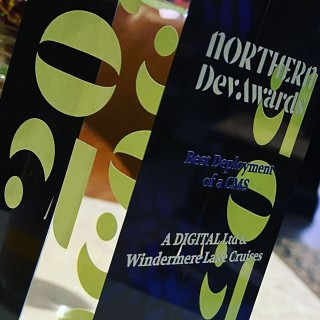 Proud winners tonight at the #northerndevawards for the best deployment of a content management system website. Thank you Windermere Lake Cruises 🏆 #awardwinners #awards #winning #agency #digitalagency #craftcms #cms #website #webdesign #digitalagency #digitalagencylife
