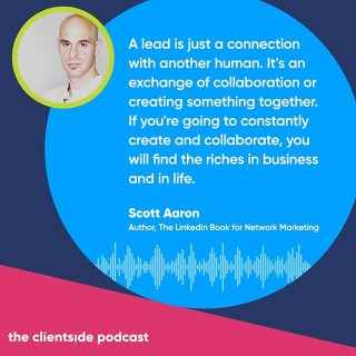 NEW PODCAST 🎤  Andrew Armtiage talks to LinkedIn expert and author Scott Aaron about the principles of making LinkedIn work for you. We talk how connecting with 'yourself' will build a stronger LinkedIn presence. Link in bio or search Spotify for 'The Clientside Podcast'.