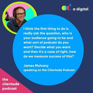 NEW PODCAST 🎤@aarmitage talks to podcasting expert and founder of radio.co James Mulvany about the many benefits that podcasting can bring to your business and how you can get started. Link in bio or search Spotify for 'The Clientside Podcast'.