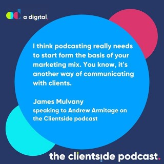 Have you listened to the latest episode of the Clientside podcast yet?🎤Andrew Armitage and podcasting expert James Mulvany discuss the motives behind starting a podcast, the rise of video in the podcasting world and things that you should consider before starting a podcast yourself. Link in bio or search Spotify for 'The Clientside Podcast'.
