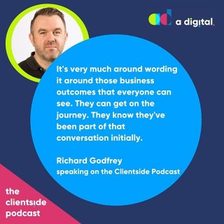 NEW PODCAST🎤 What does digital transformation really mean?Find out in the latest episode of The Clientside Podcast. @aarmitage talks to digital transformation expert Richard Godfrey about the steps you can take you start your own digital transformation today.Link in bio or search The Clientside Podcast on your favourite podcast outlet.