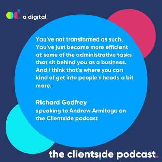 In the latest episode of our podcast, Andrew Armitage discusses digital transformation with Richard Godfrey.Have you heard it yet?Link in bio or search The Clientside Podcast on your favourite podcast outlet.