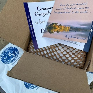 Well this is an exciting looking delivery! Mmm yummy @grasmeregingerbread 😋