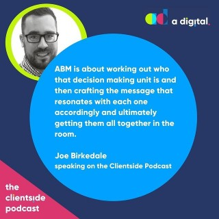 NEW PODCAST ALERT 🎤 Have a listen to our latest episode. Andrew chats with Joe Birkedale about ABM.Link in bio or search The Clientside Podcast on your favourite podcast outlet.