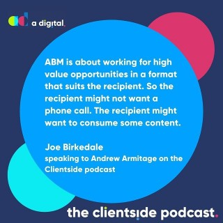 What is ABM?Find out in the latest episode of the Clientside Podcast.Not heard it yet? Find it on your favourite podcast outlet. 🎤