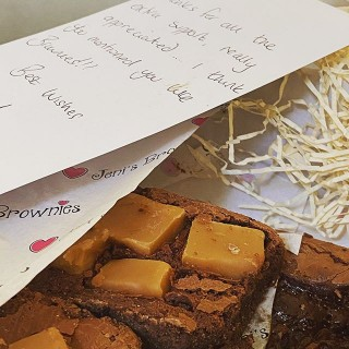 Oh my! What a lovely surprise to receive a box of amazing brownies in the post this morning from @jenisbrownies - thank you to one of our amazing clients - you know who you are! Can't see them lasting long 😋