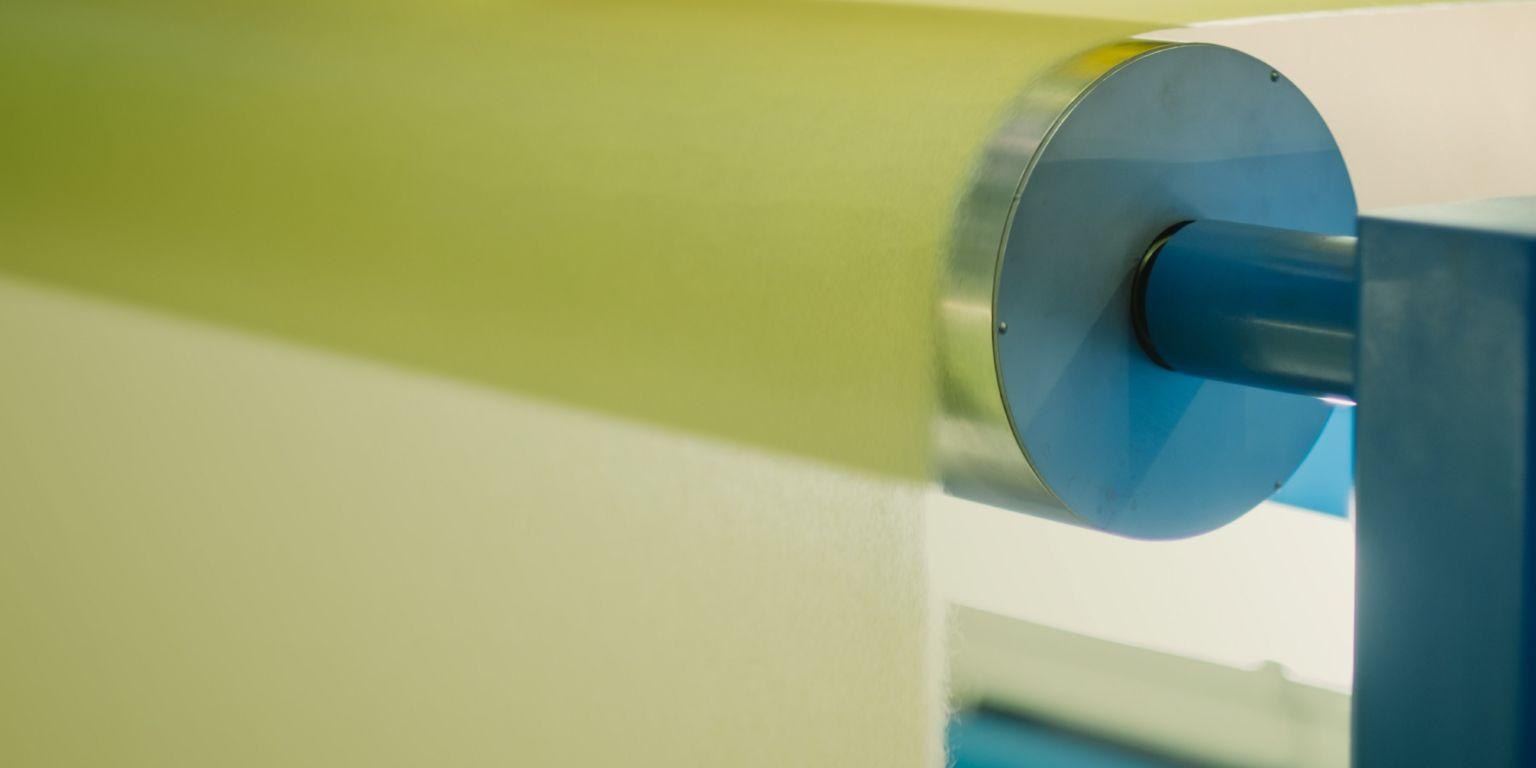 TFP machine roller close up