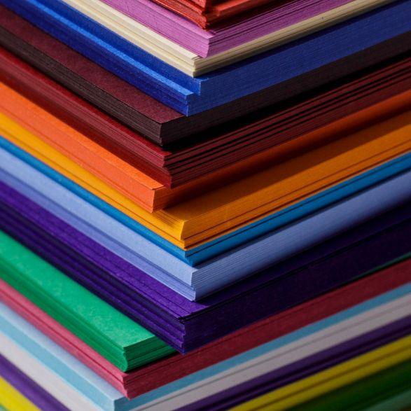 Paper stack colour header
