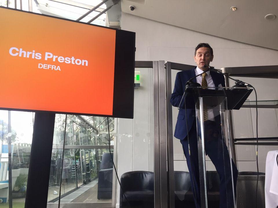 Defra cup fund Chris Preston