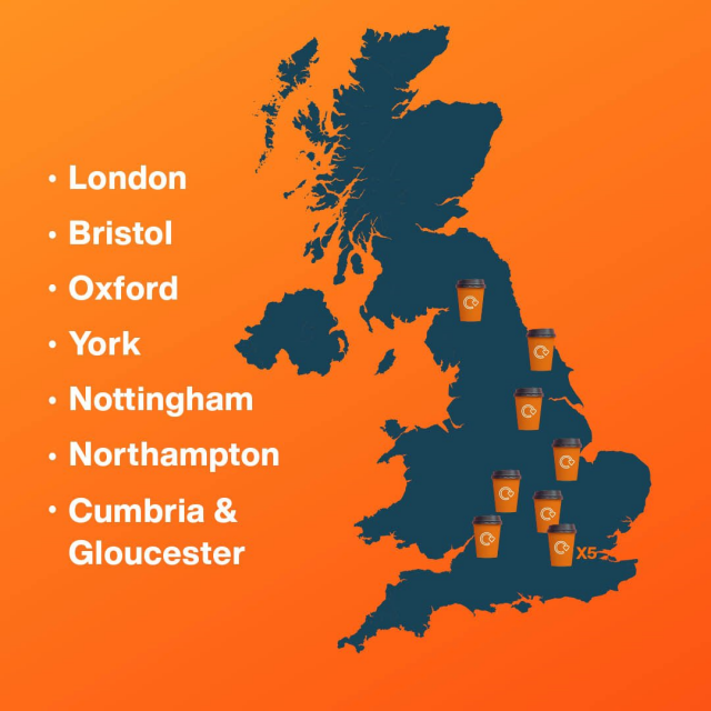Cup fund uk map