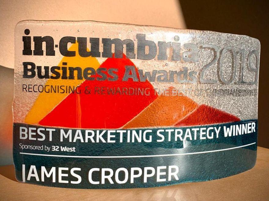 In Cumbria Marketing WINNER award Nov 2019