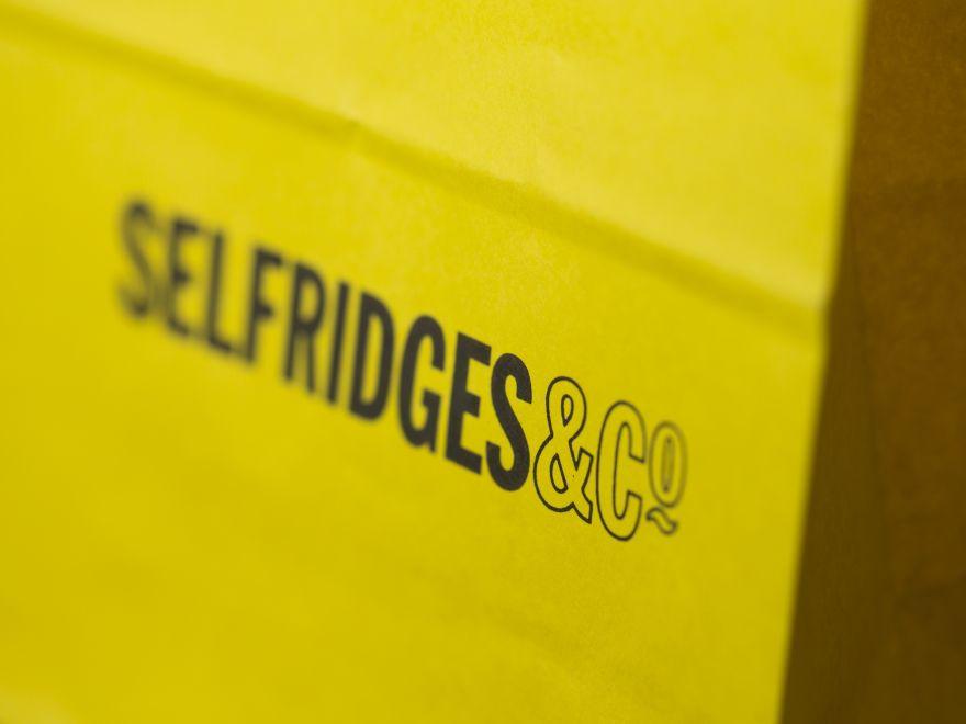 Selfridges Yellow Paper Bag