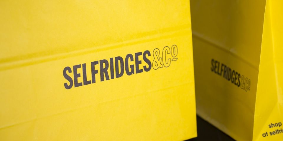 Selfridges Tailor Made paper bag