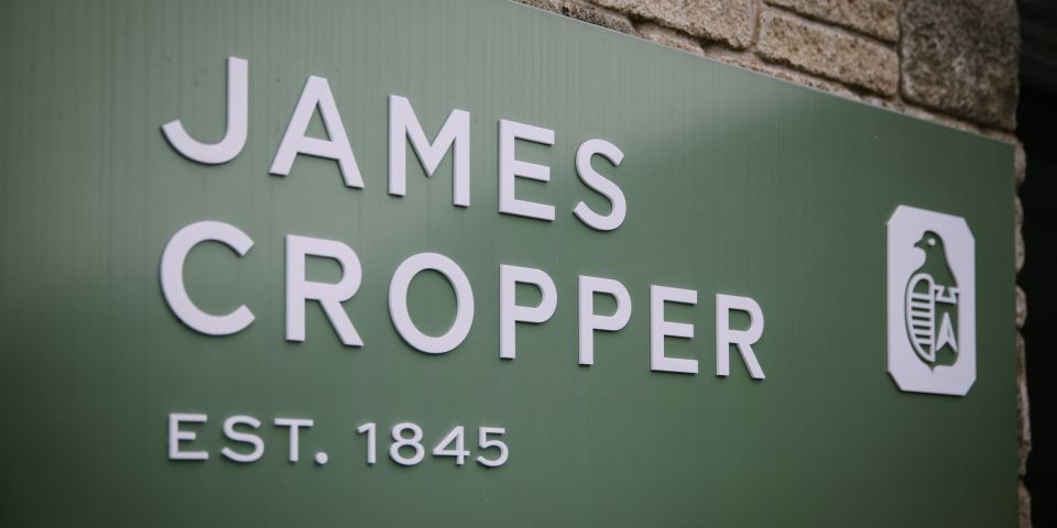 James Cropper sign