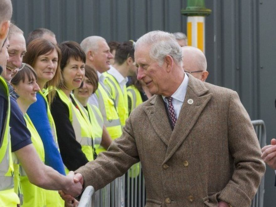 The Prince of Wales meets staff at James Cropper PLC e1522144434792