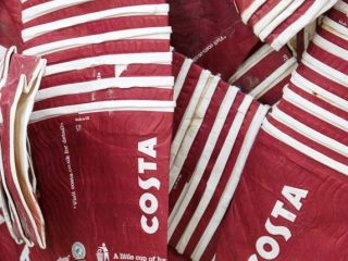 Costa Coffee Cups at James Cropper Cup Cycling facility