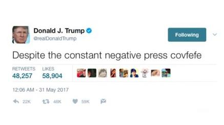 Trump typo: Covfefe mocked on internet