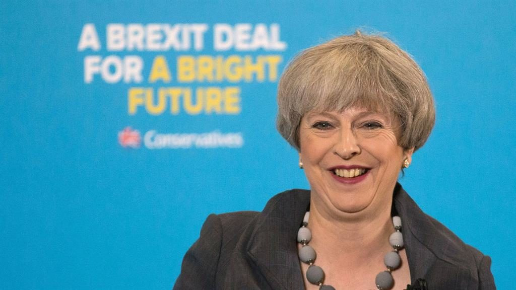 May could lose majority in election: YouGov projection