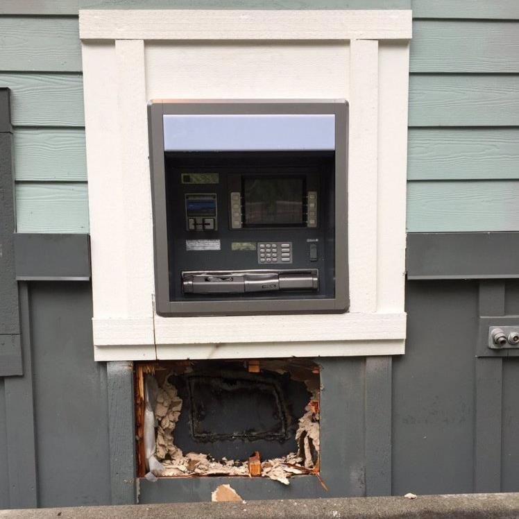 Men used blowtorch to break into ATM, police say