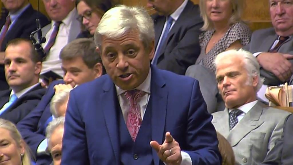 Worthing MP helps drag Bercow to speaker's chair